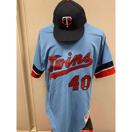 Photo of Minnesota Twins - Rick Anderson Team Issued 1984 Throwback Jersey and Hat