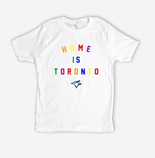 Toronto Blue Jays Youth Home Is Toronto Pride T-Shirt by Peace Collective