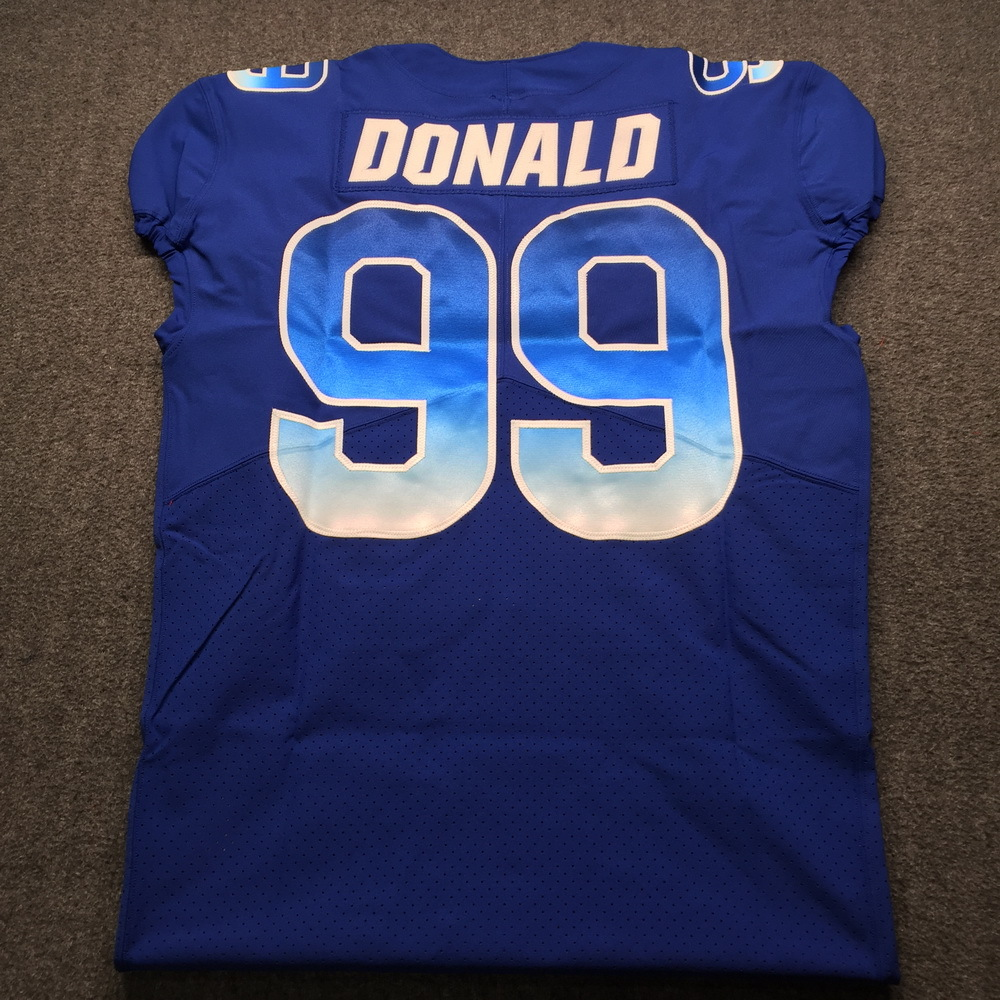 best sneakers 4215d ae0fd NFL Auction | NFL - Rams Aaron Donald Game Issued 2019 Pro ...