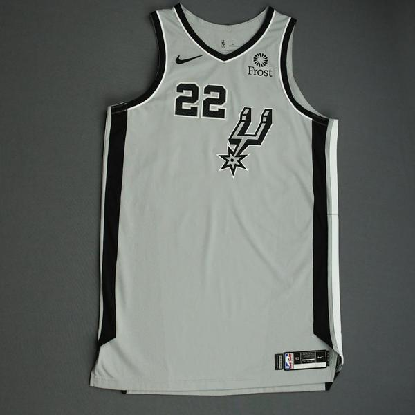 Image of Rudy Gay - San Antonio Spurs - Game-Worn Statement Edition Jersey - NBA Mexico Games - Double-Double - 2019-20 NBA Season