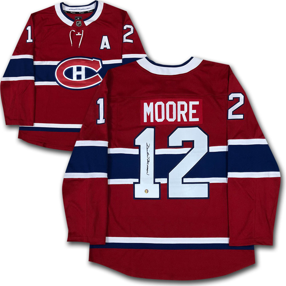 Dickie Moore Autographed Montreal Canadiens Jersey