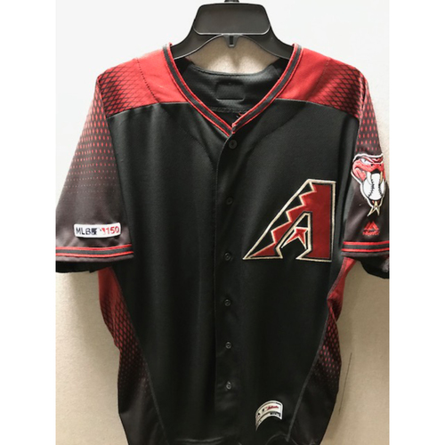 Photo of Yoan López 2019 Game-Used Black Alternate Jersey (Size 44)