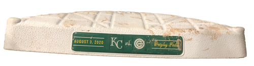Photo of Game-Used 2nd Base -- Used in Innings 5 through 9 -- Royals vs. Cubs -- 8/3/20
