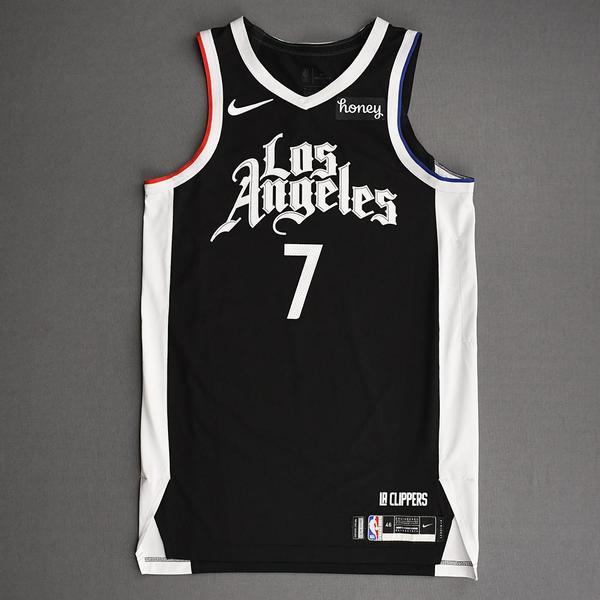 Image of Amir Coffey - Los Angeles Clippers - Game-Worn City Edition Jersey - Dressed, Did Not Play (DNP) - 2021 NBA Playoffs