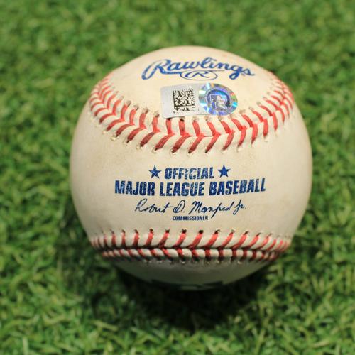 Photo of Game-Used Baseball: Chas McCormick 55th Career Hit (HOU@KC 8/18/21)