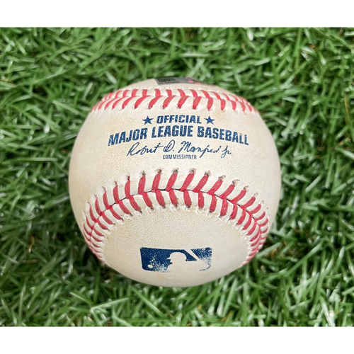 Photo of Game Used ALDS Baseball: Xander Bogaerts single off J.T. Chargois - Top 6 - October 7, 2021 v BOS