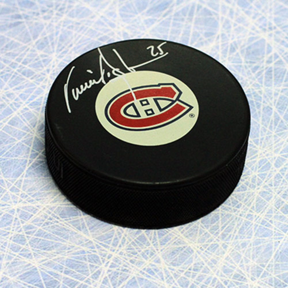 Vincent Damphousse Montreal Canadiens Autographed Hockey Puck
