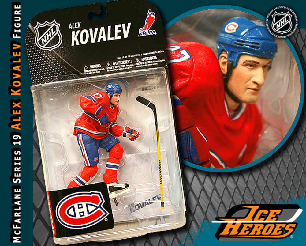 ALEX KOVALEV McFarlane Series 19 Action Figure - MIB - Montreal Canadiens