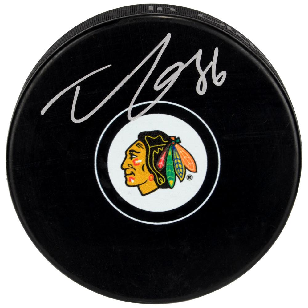 Teuvo Teravainen Chicago Blackhawks Autographed Hockey Puck