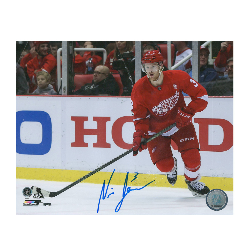 NICK JENSEN Signed Detroit Red Wings 8 X 10 Photo - 70448