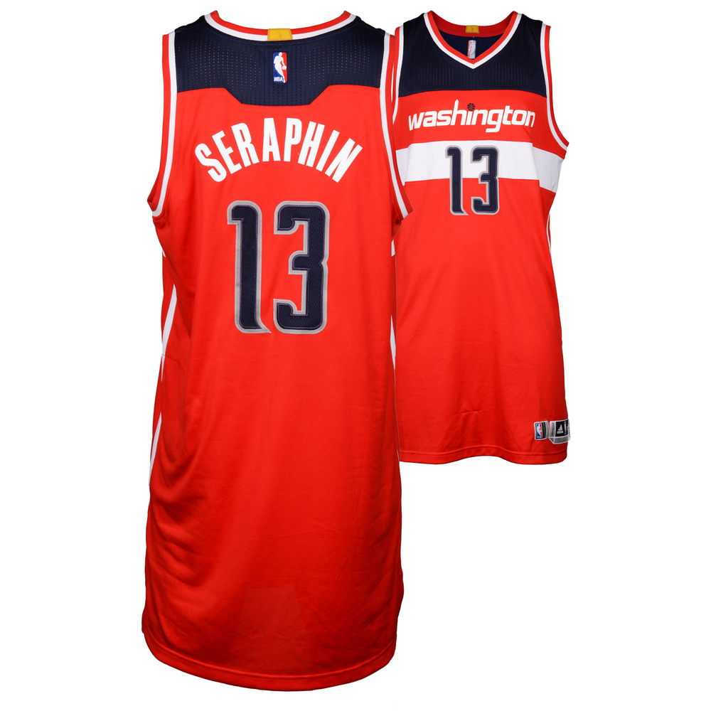 Kevin Seraphin Washington Wizards Game 2 Win vs. Toronto Raptors Red Game-Used Jersey