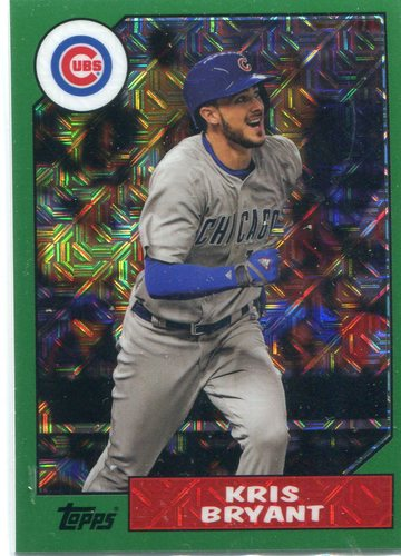Photo of 2017 Topps '87 Topps Silver Pack Chrome Green Kris Bryant 009/150