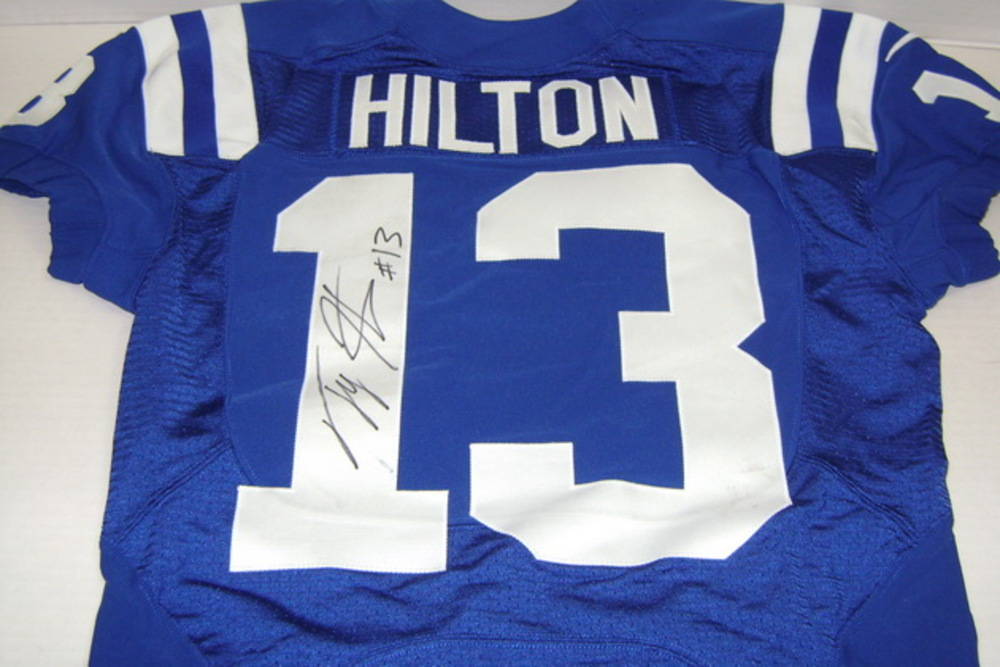 CRUCIAL CATCH - COLTS T. Y. HILTON GAME WORN AND SIGNED COLTS JERSEY - WASHED BY EQUIPMENT MANAGER (OCTOBER 9, 2016)