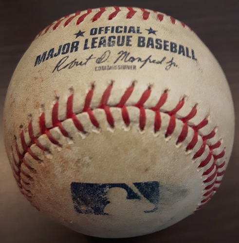 Photo of Authenticated Game Used Baseball - August 13, 2017: Josh Harrison Single against J.A. Happ (Top 1)