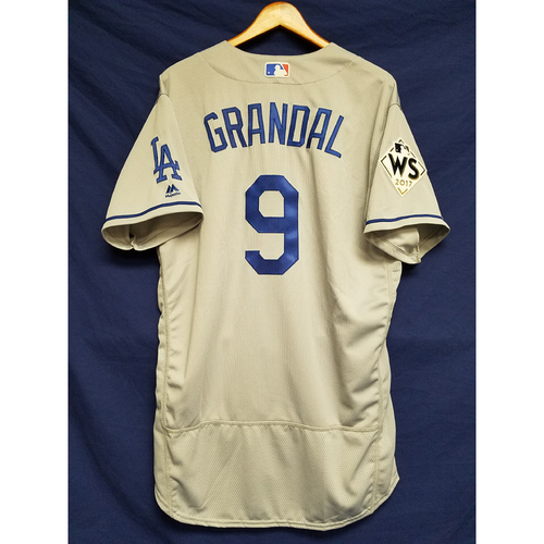Photo of Yasmani Grandal 2017 Road World Series Team-Issued Jersey