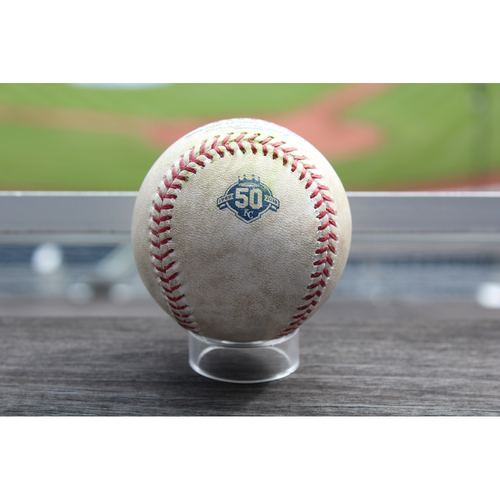Photo of Game-Used Baseball: Kyle Seager 215th Career Double (SEA at KC - 4/10/18)