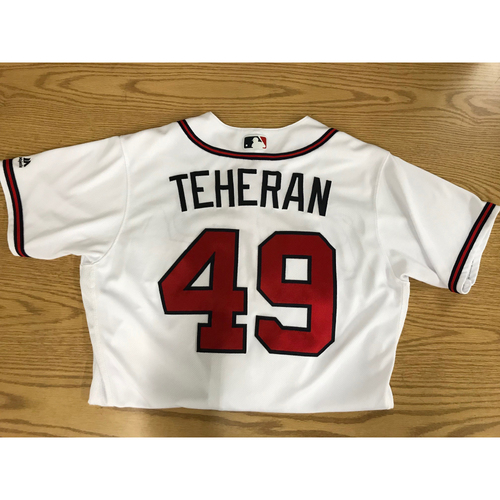 Photo of Julio Teheran Game-Used 2018 Opening Day Jersey - Braves Walk-Off Win
