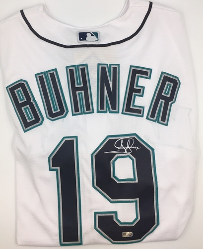 Photo of Jay Buhner Autographed Mariners Jersey