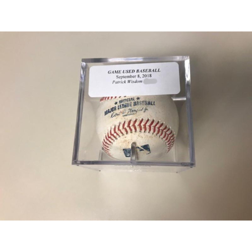 Photo of Game-Used Baseball: Patrick Wisdom Grounds into Force Out