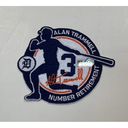 Photo of Team-Issued Alan Trammell Number Retirement Patch