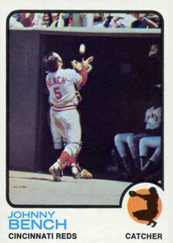 Photo of 1973 Topps #380 Johnny Bench