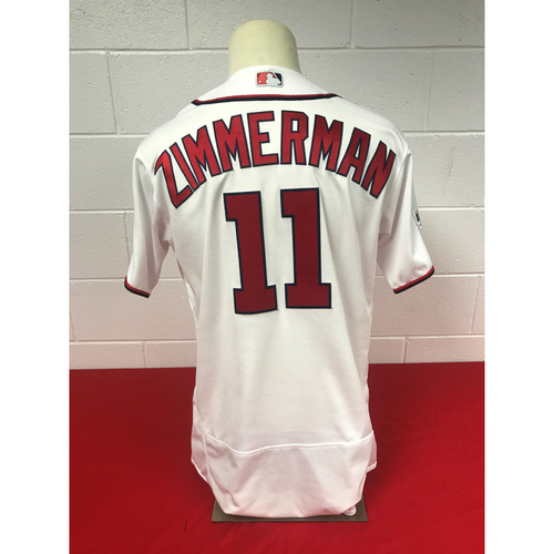 Photo of Ryan Zimmerman Game-Used 2018 Home White Jersey with All Star Game Patch