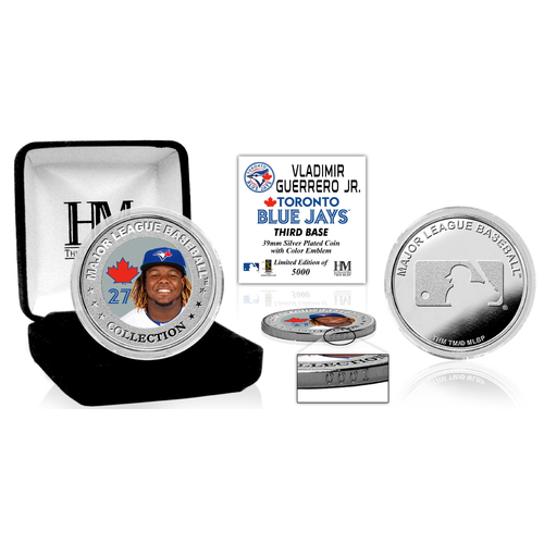 Photo of Vladimir Guerrero Jr Debut Color Silver Coin