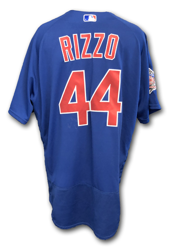 Photo of Anthony Rizzo Team-Issued Jersey -- Size 50 -- Spring Training 2019