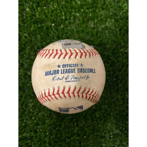 Photo of Max Fried Game Used Hit Double Baseball - 8/18/2019