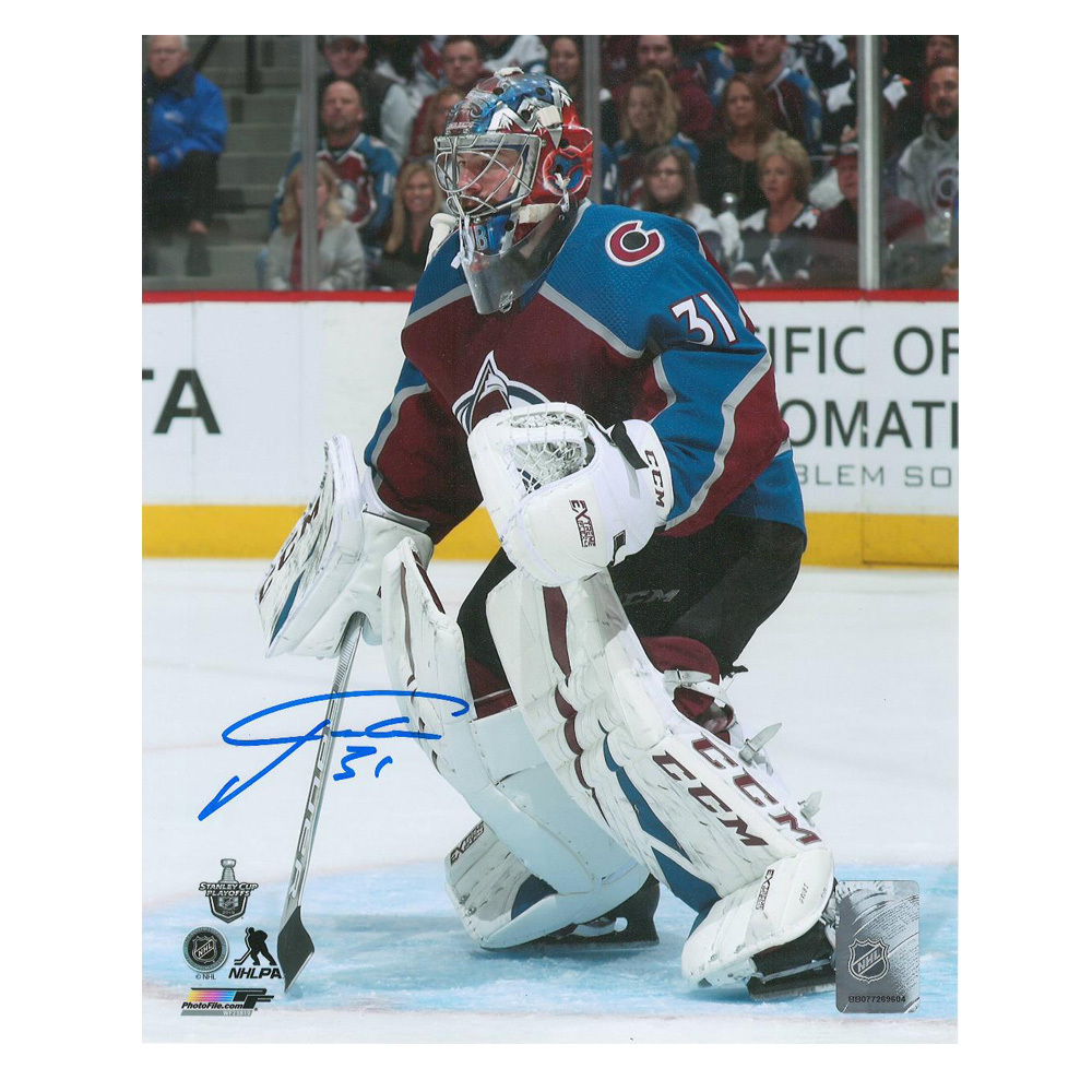 PHILIPP GRUBAUER Signed Colorado Avalanche 8 X 10 Photo - 70265 A