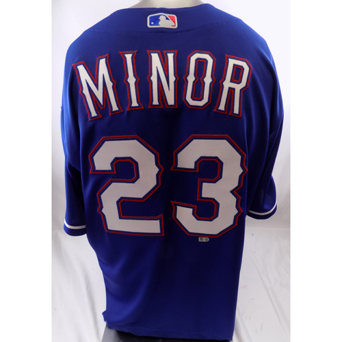 Photo of Blue Team-Issued Jersey - Mike Minor - 10/8/19