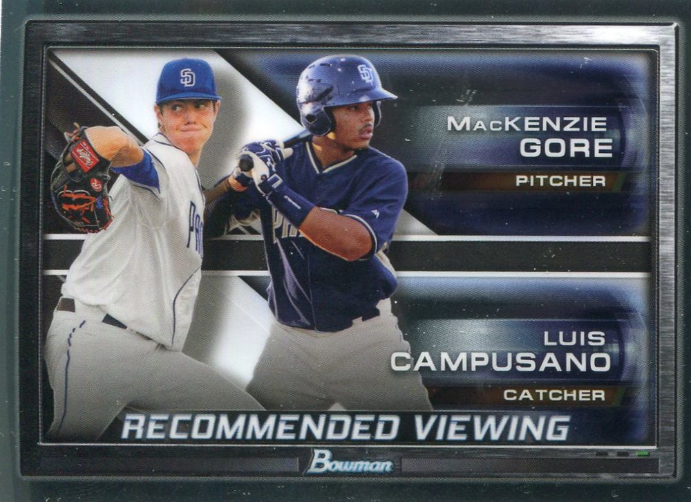 2017 Bowman Chrome Draft Recommended Viewing #RVSDP Luis Campusano/MacKenzie Gore