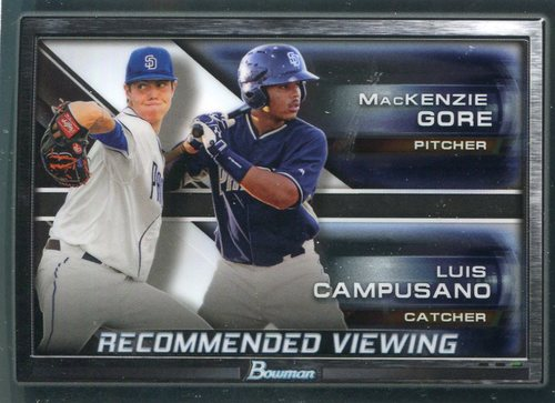 Photo of 2017 Bowman Chrome Draft Recommended Viewing #RVSDP Luis Campusano/MacKenzie Gore