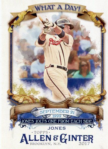 Photo of 2017 Topps Allen and Ginter What a Day #WAD46 Chipper Jones