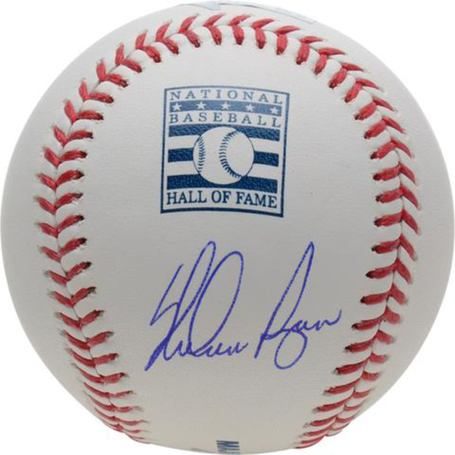 Photo of Nolan Ryan Autographed Hall of Fame Logo Baseball