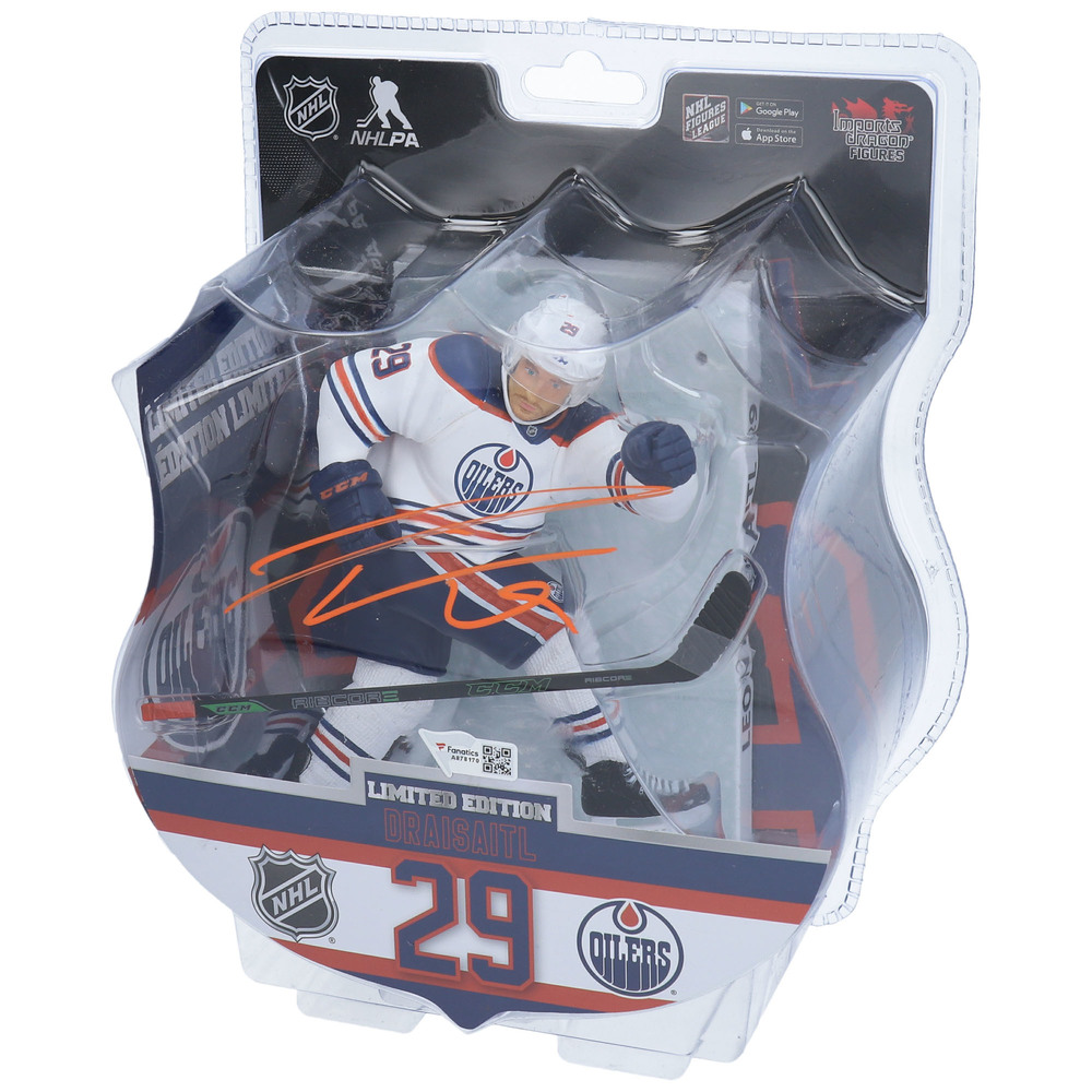 Leon Draisaitl Edmonton Oilers Autographed Imports Dragon 6