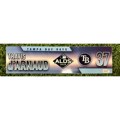 Photo of Rays Baseball Foundation: Game Used Locker Tag: Travis d'Arnaud - ALDS - October 4, 5 and 10, 2019 at HOU