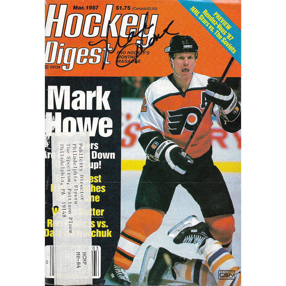Mark Howe Autographed March 1987 Hockey Digest