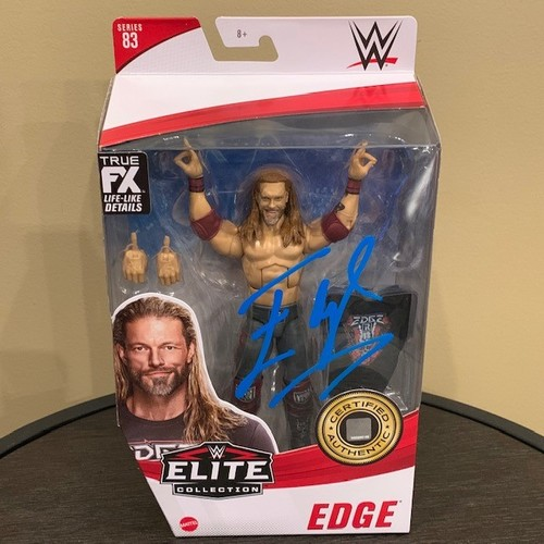 Photo of Edge SIGNED WWE Elite Series 83 Action Figure.