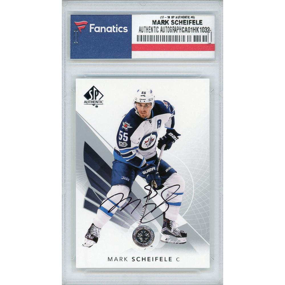 Mark Scheifele Winnipeg Jets Autographed 2017-18 Upper Deck SP Authentic #6 Card
