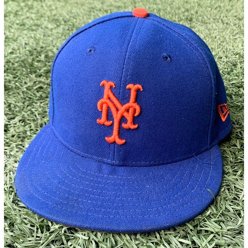 Photo of Kevin Pillar #11 - Game Used Blue Hat - Pinch Hit, 1-1 - Mets vs. Marlins - 9/29/21