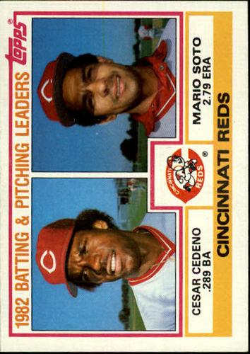 Photo of 1983 Topps #351 Reds TL/BA: Cesar Cedeno/ERA: Mario Soto/(Check