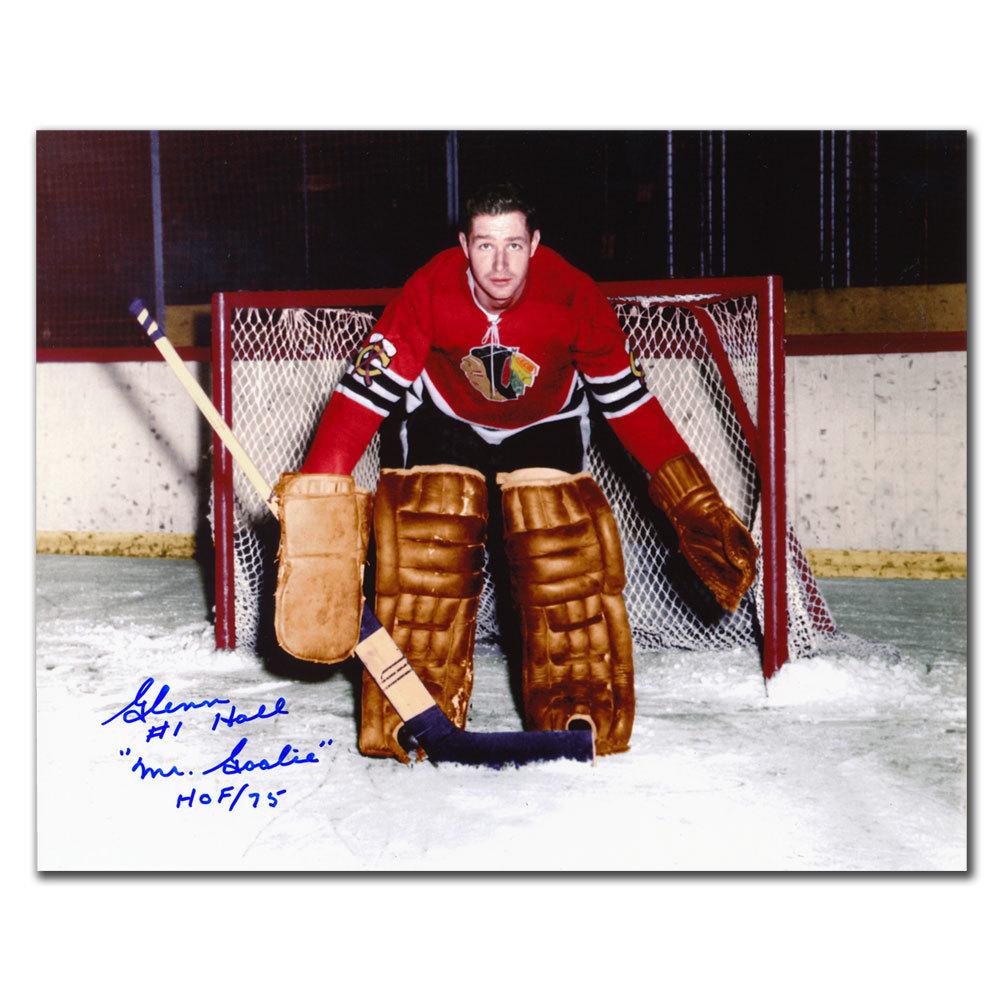 Glenn Hall Chicago Blackhawks HOF Autographed 8x10