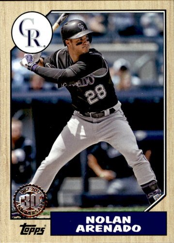 Photo of 2017 Topps '87 Topps #8742 Nolan Arenado