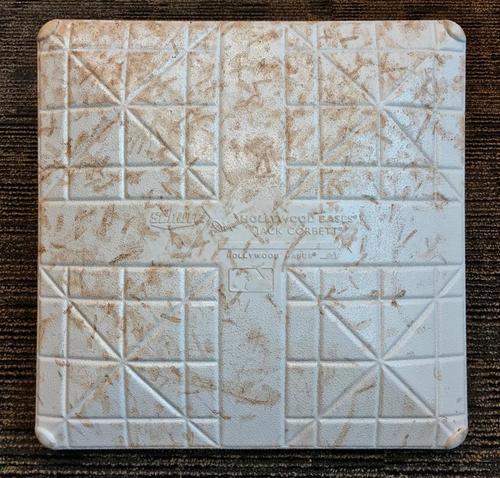 Photo of Game-Used Base from Pirates vs. Giants on 5/11/18 - 2nd Base Used During Innings 7-9
