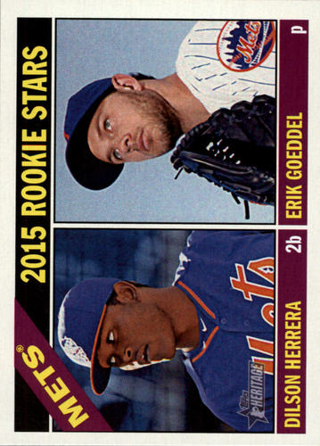 Photo of 2015 Topps Heritage #67 Erik Goeddel RC/Dilson Herrera RC