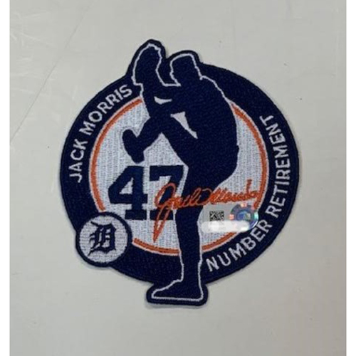 Photo of Team-Issued Jack Morris Number Retirement Patch