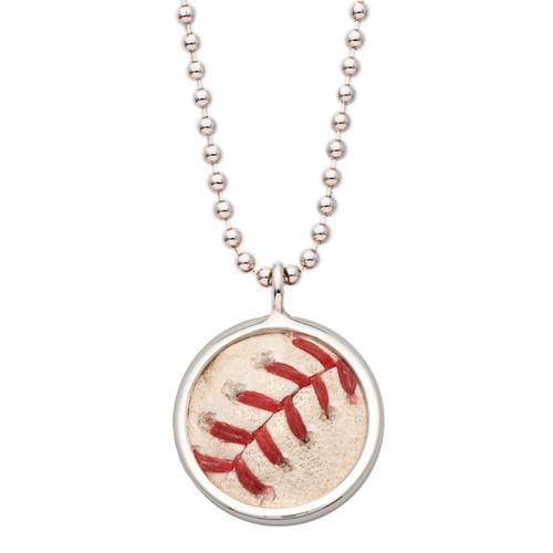 Photo of Tokens & Icons New York Yankees Game Used Baseball Pendant