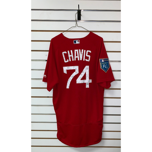 Photo of Michael Chavis team issued 2018 Spring Training Jersey
