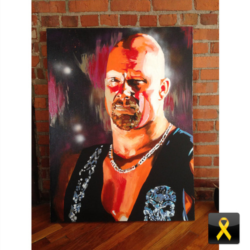 Stone Cold Steve Austin Painting by Rob Schamberger